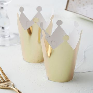 Mini Gold Crown Party Hats